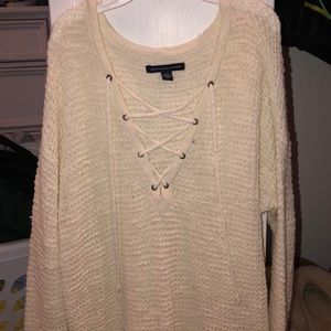Crisscross sweater